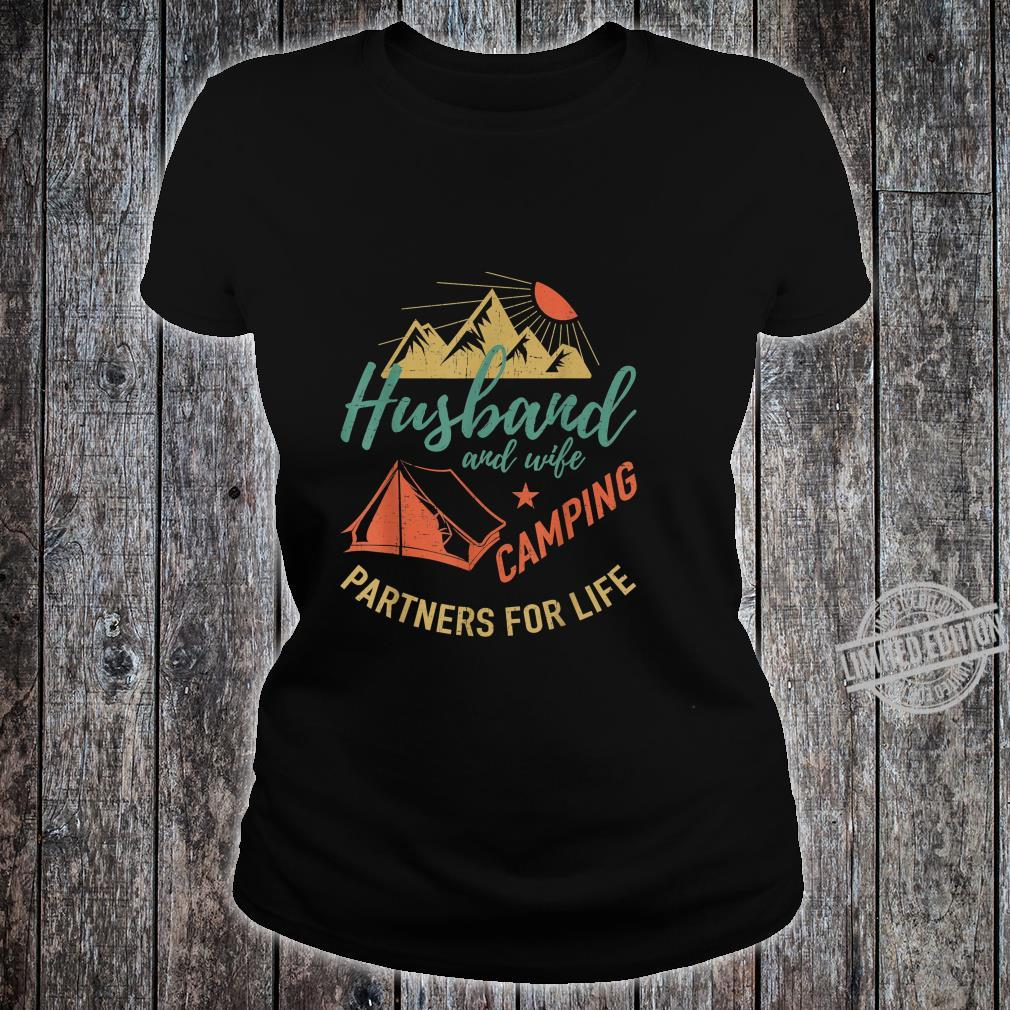 Husband and wife camping partners Camping Shirt ladies tee