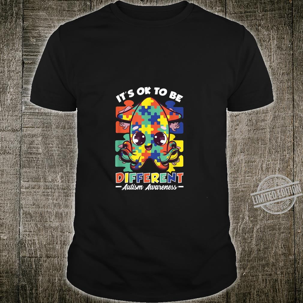 It's OK To Be Different Autism Awareness Puzzle Squid Shirt