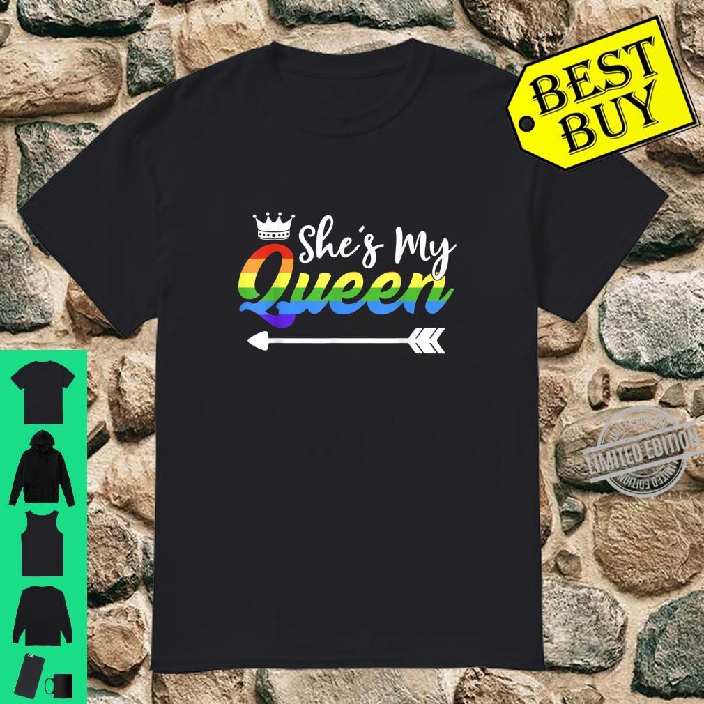 Matching Lesbian Couple Her Queen Girlfriend LGBT Pride Shirt