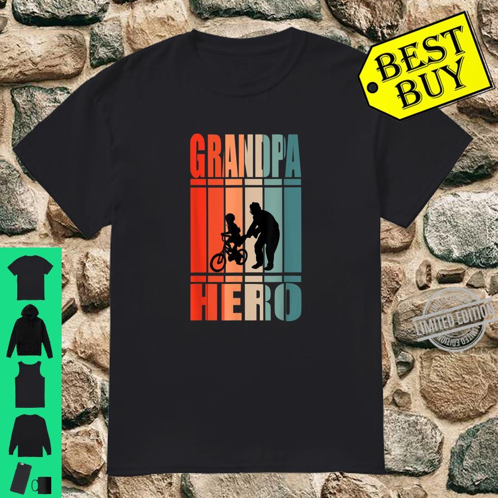 Mens Grandpa Hero Grandfather Vintage Fathers Day Shirt