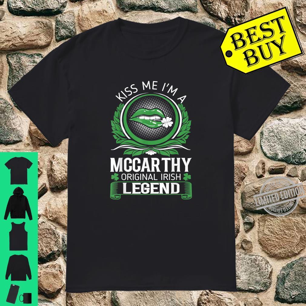 Mens Kiss Me Mccarthy Original Irish Legend St Patrick Day Shirt