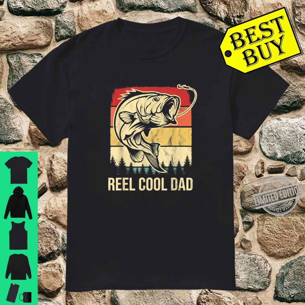 Mens Vintage Reel Cool Dad Retro Bass Fishing Father's Day Shirt