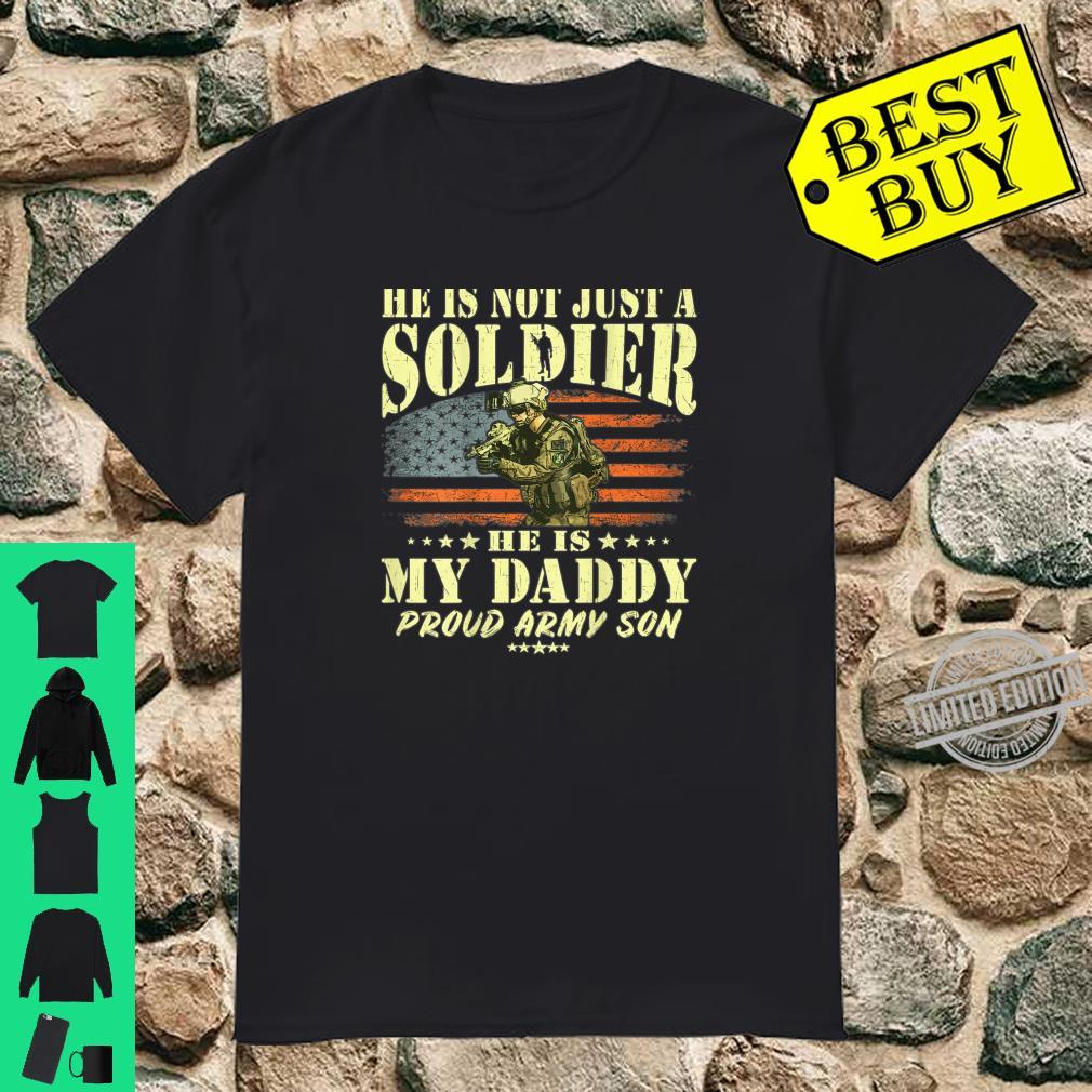 My Daddy Is A Solider Hero Proud Army Son Military Child Shirt