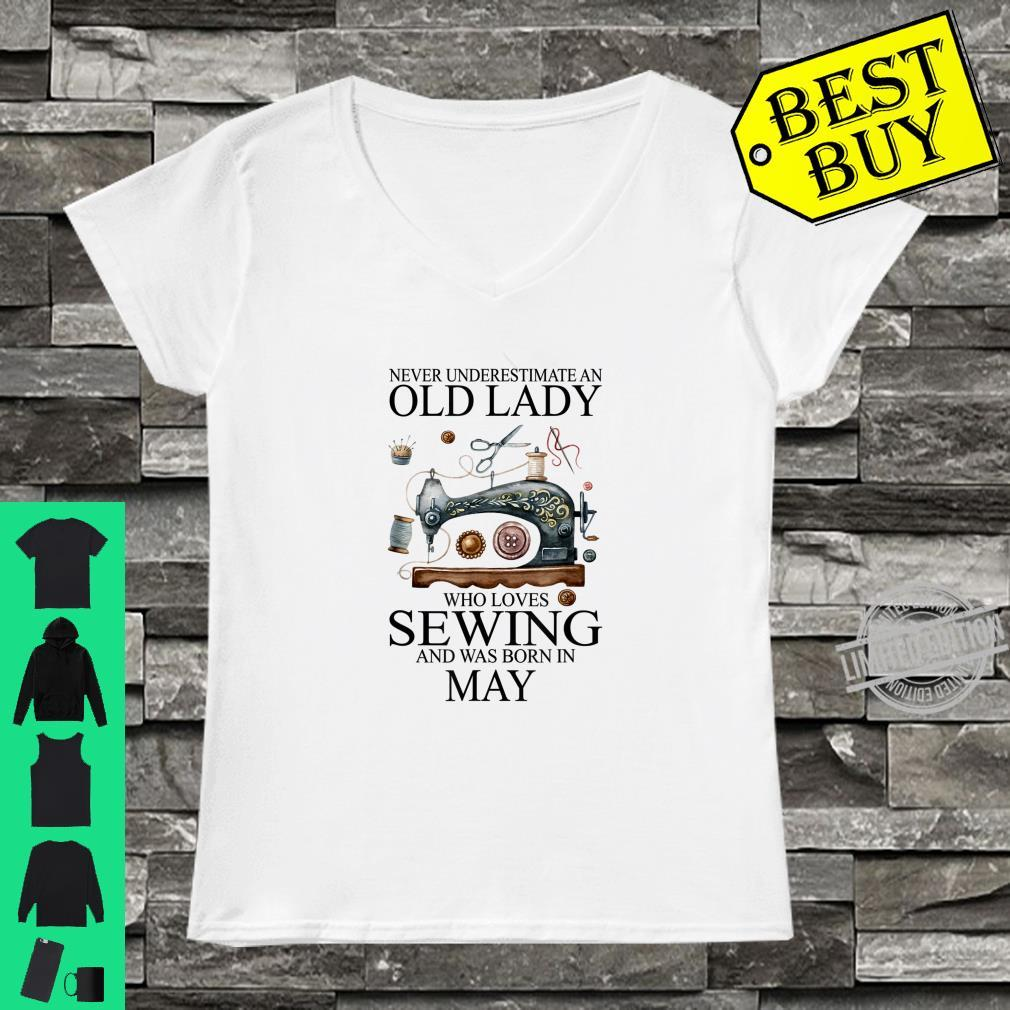 Never Underestimate An Old Lady Who Loves Sewing May Shirt ladies tee