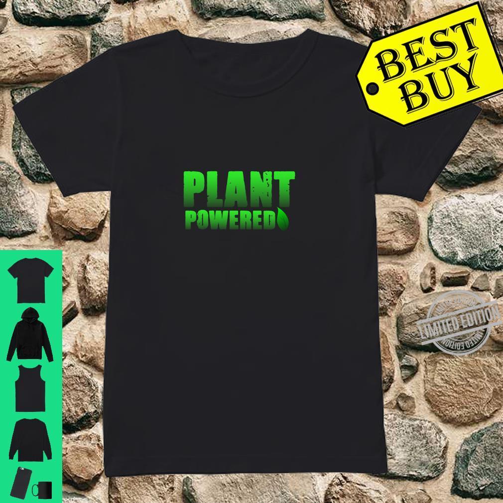 Plant Powered, Vegetarian Vegan Gym Shirt ladies tee