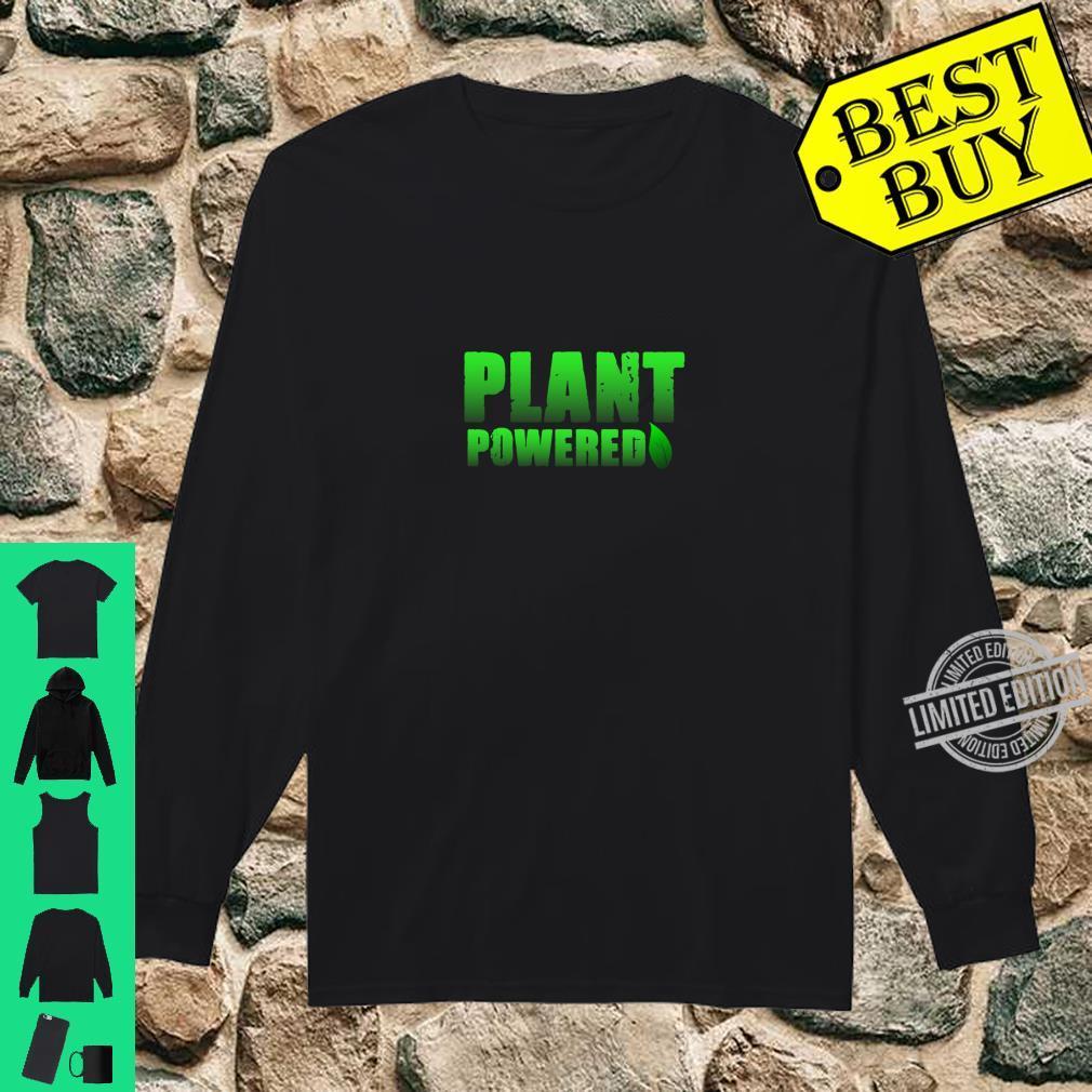 Plant Powered, Vegetarian Vegan Gym Shirt long sleeved