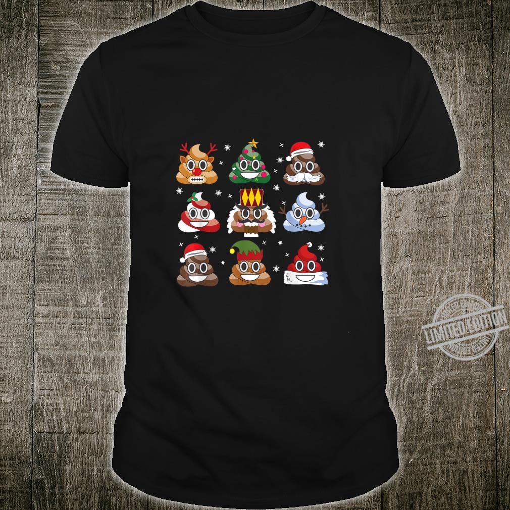 Poop Emoji Poo Emoticon Christmas Pajama Ugly Shirt