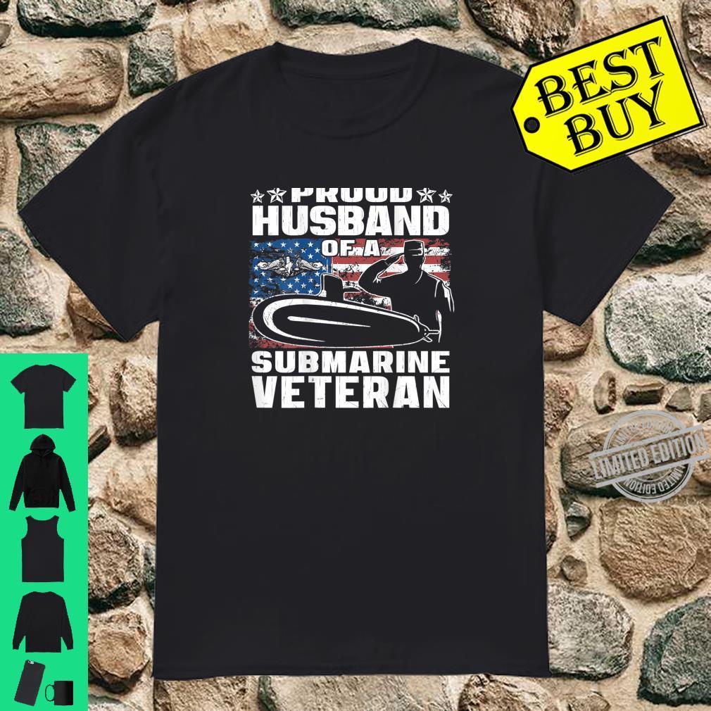 Proud Husband Of Submarine Veteran Military Vet Spouse Shirt