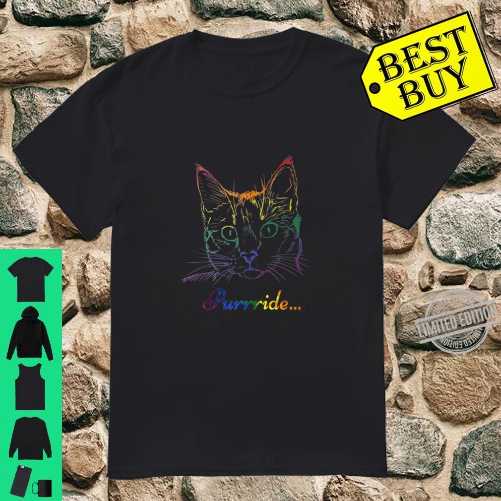 Purride Cat LGBT Gay Pride Shirt