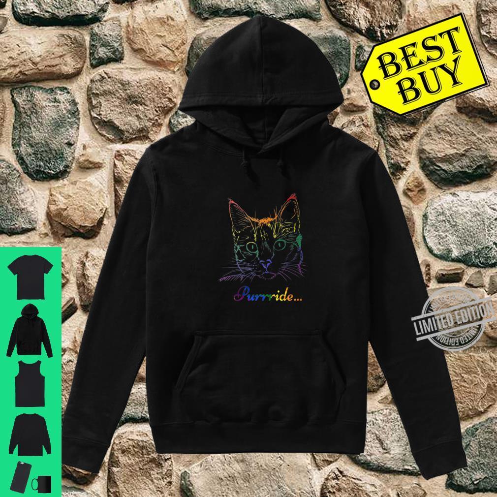 Purride Cat LGBT Gay Pride Shirt hoodie