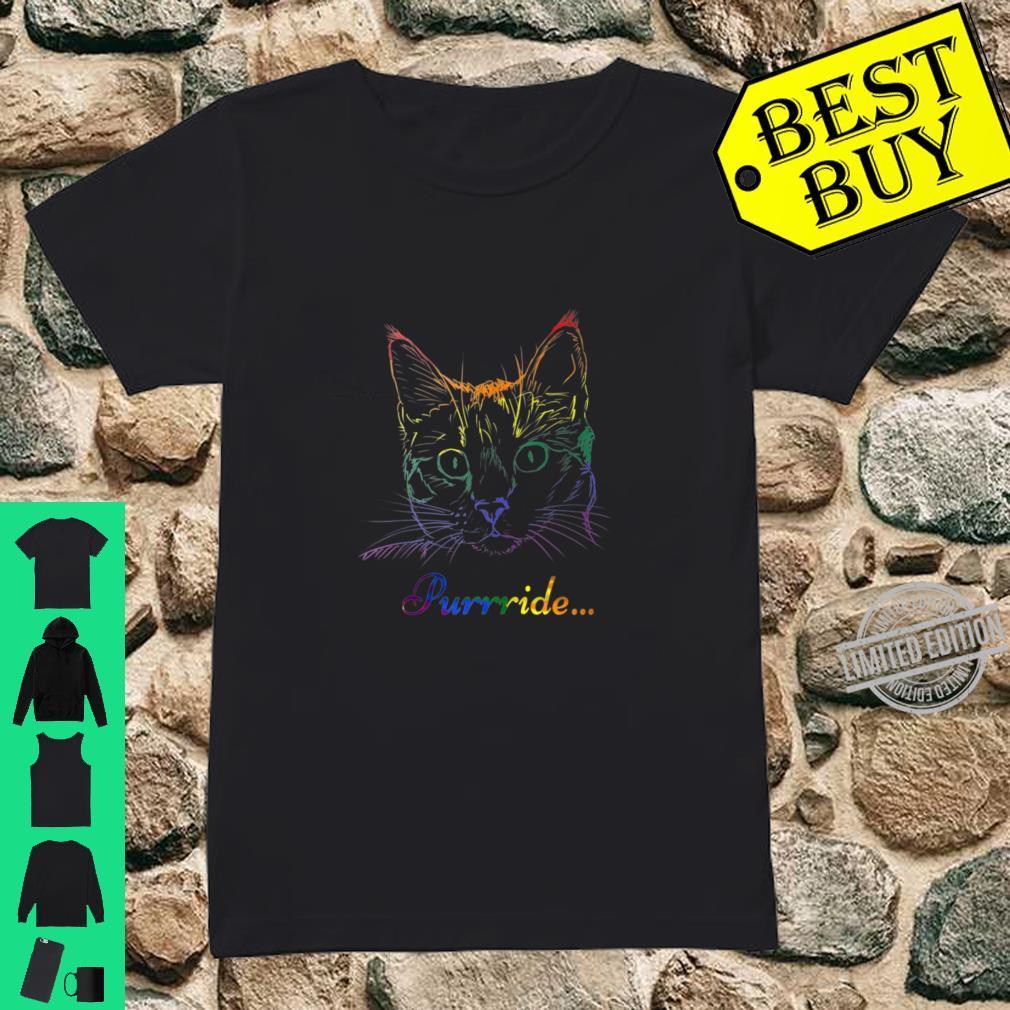 Purride Cat LGBT Gay Pride Shirt ladies tee