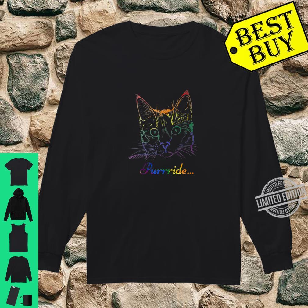 Purride Cat LGBT Gay Pride Shirt long sleeved