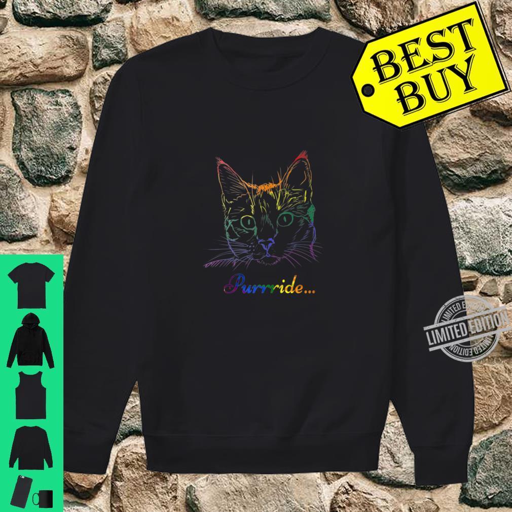 Purride Cat LGBT Gay Pride Shirt sweater