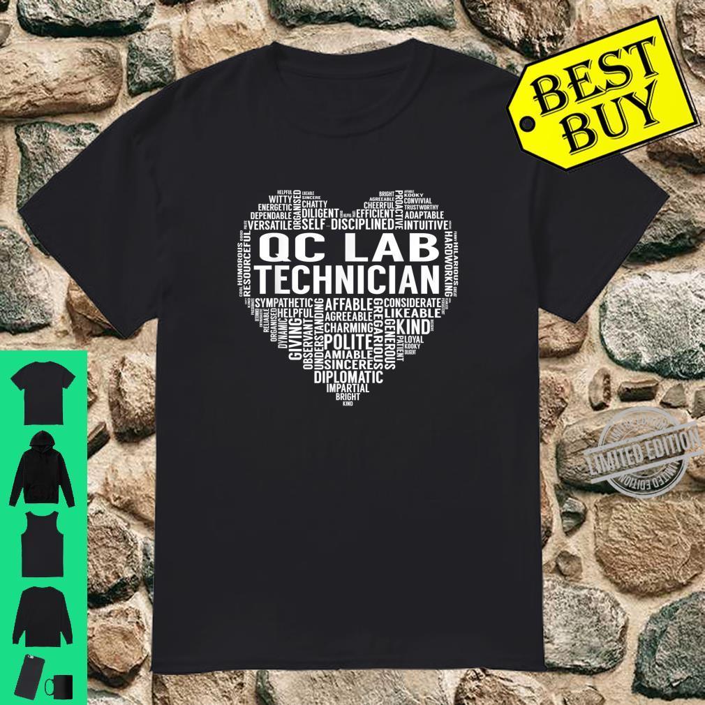 Qc Lab Technician Heart Shirt