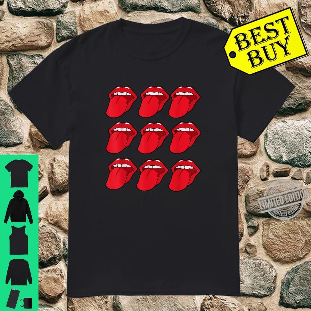 Red Lips Classic 1980's Retro 80's Shirt
