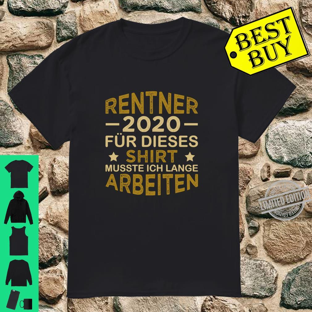 Rentner 2020 Für Dieses Shirt Lange Arbeiten Rente Langarmshirt Shirt
