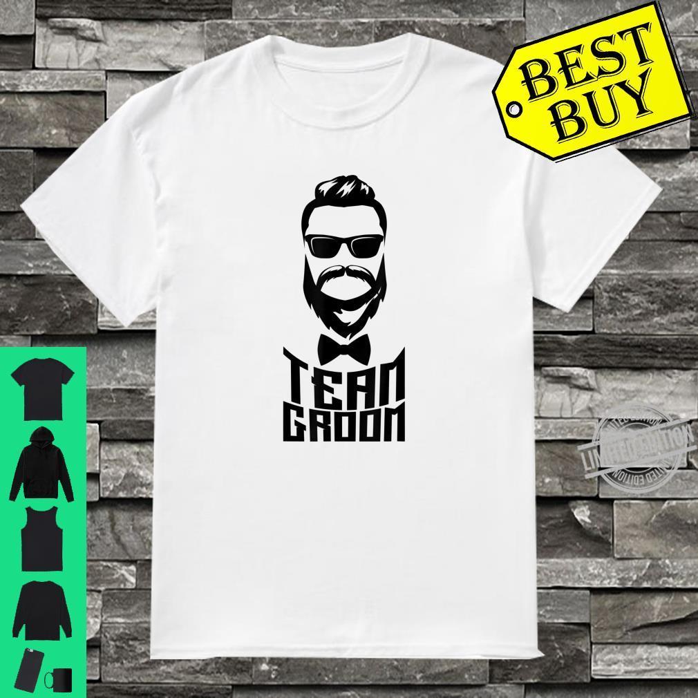 TEAM GROOM Shirt White Beard And Glasses Bachelor Party Shirt