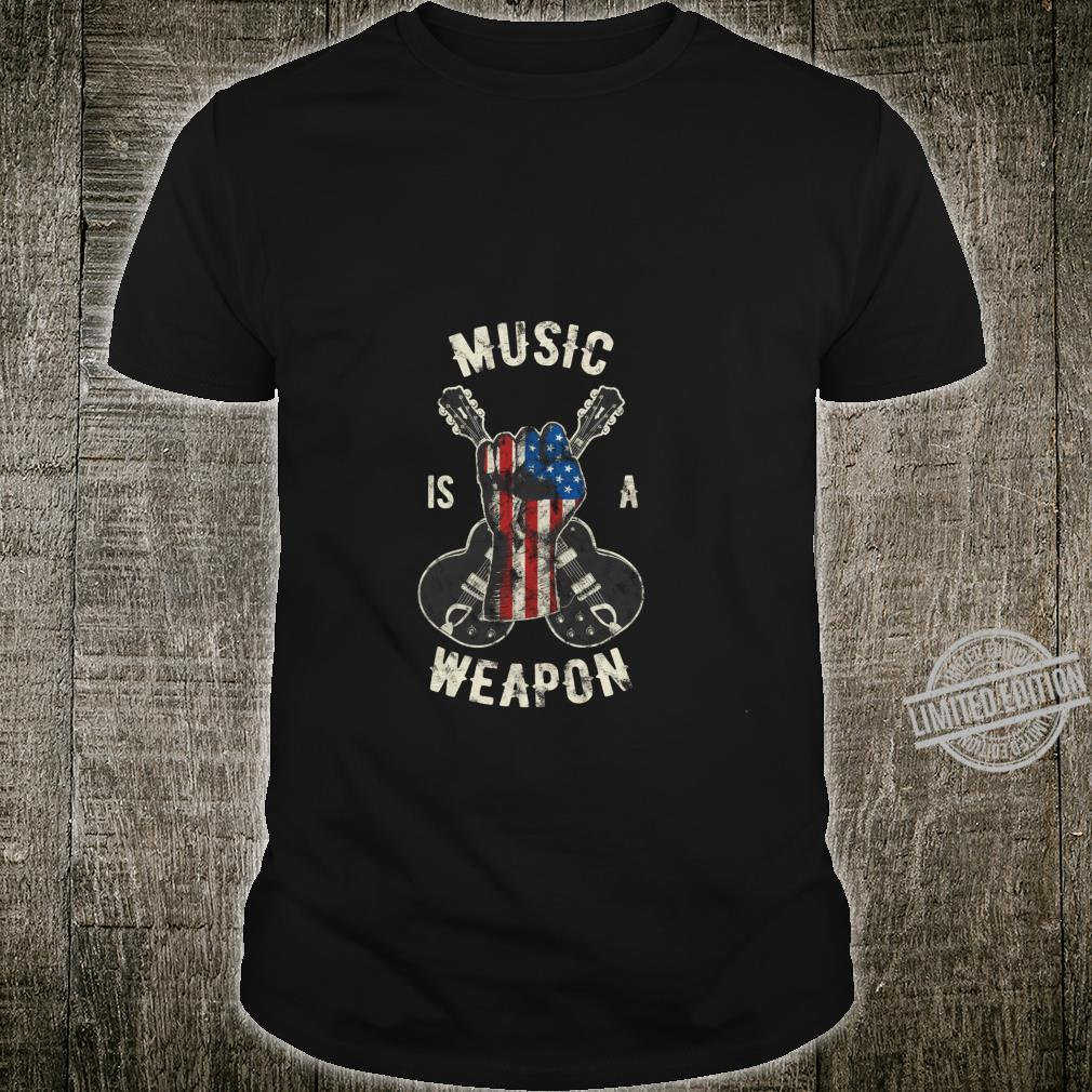 Vintage Guitar Player Shirt Rock and Roll Guitarist Shirt