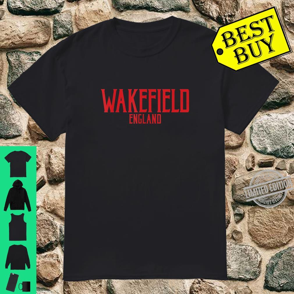 Wakefield England Vintage Text Red Print Shirt