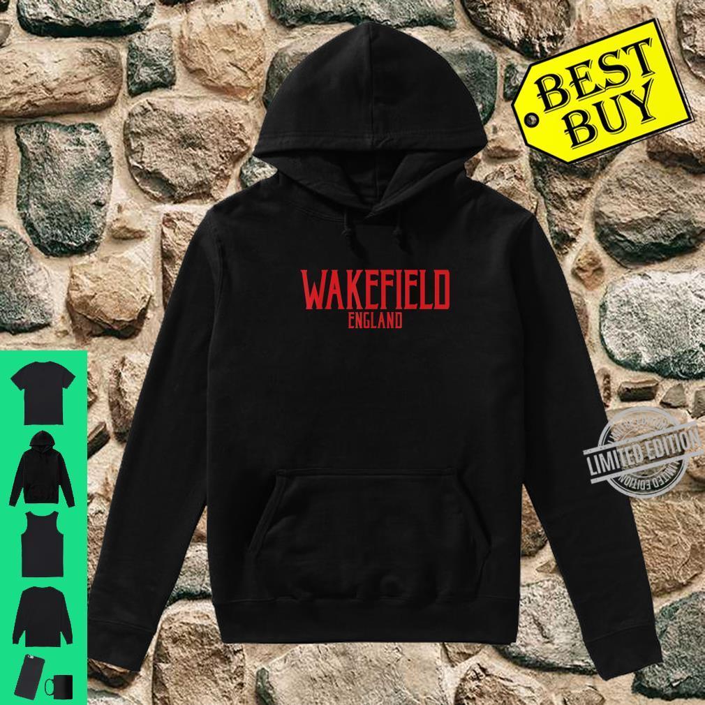 Wakefield England Vintage Text Red Print Shirt hoodie