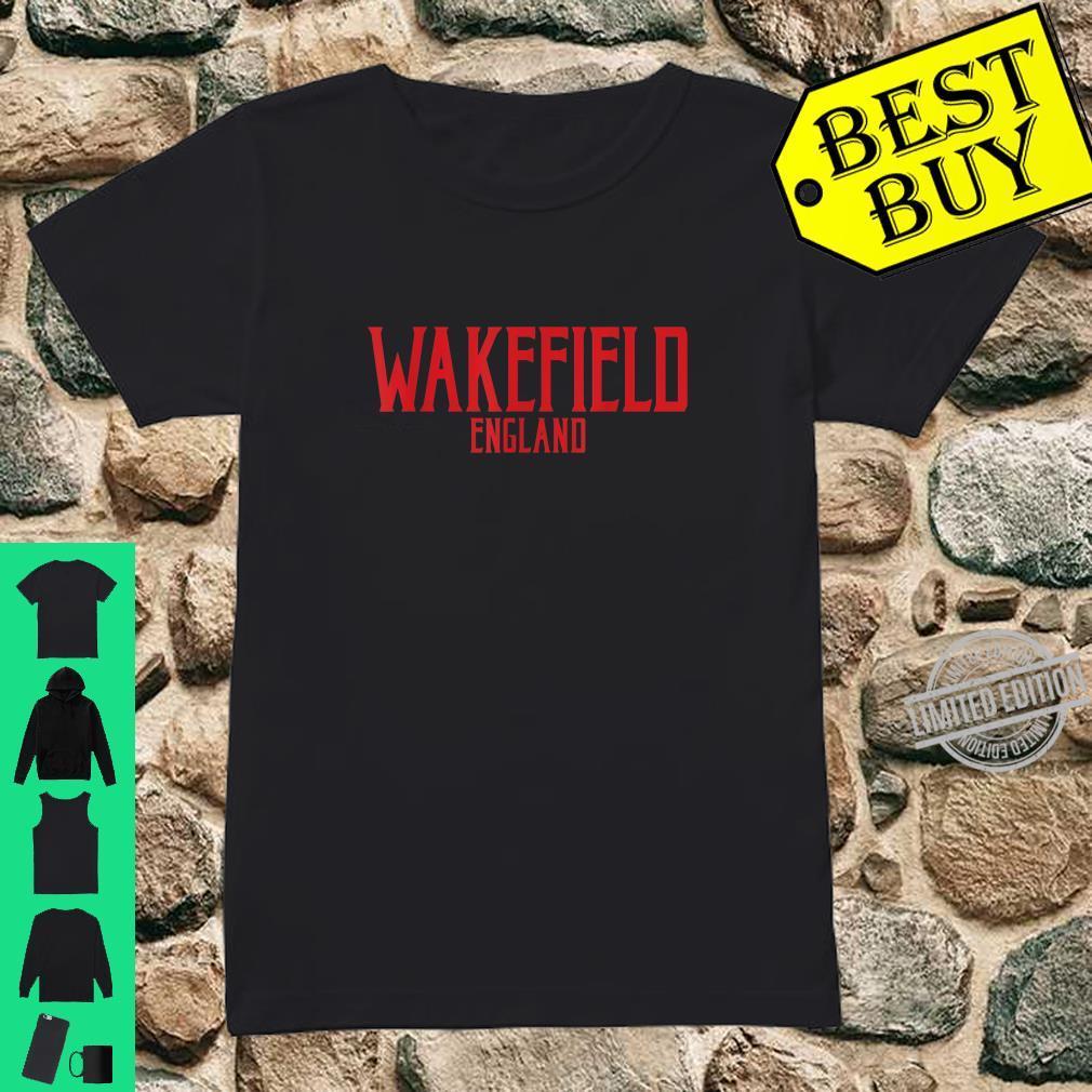 Wakefield England Vintage Text Red Print Shirt ladies tee