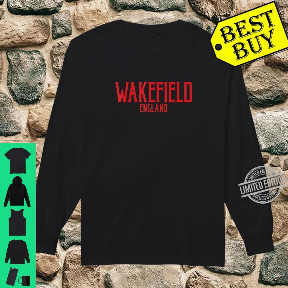 Wakefield England Vintage Text Red Print Shirt long sleeved