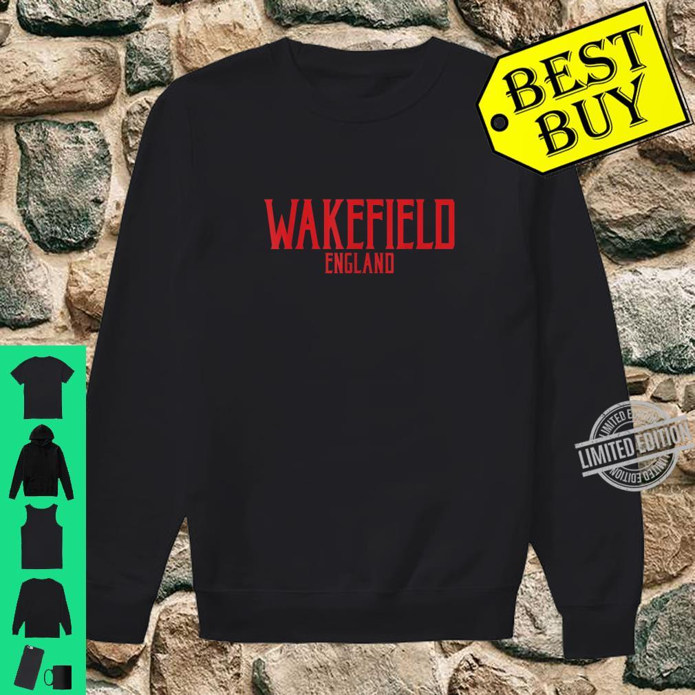 Wakefield England Vintage Text Red Print Shirt sweater