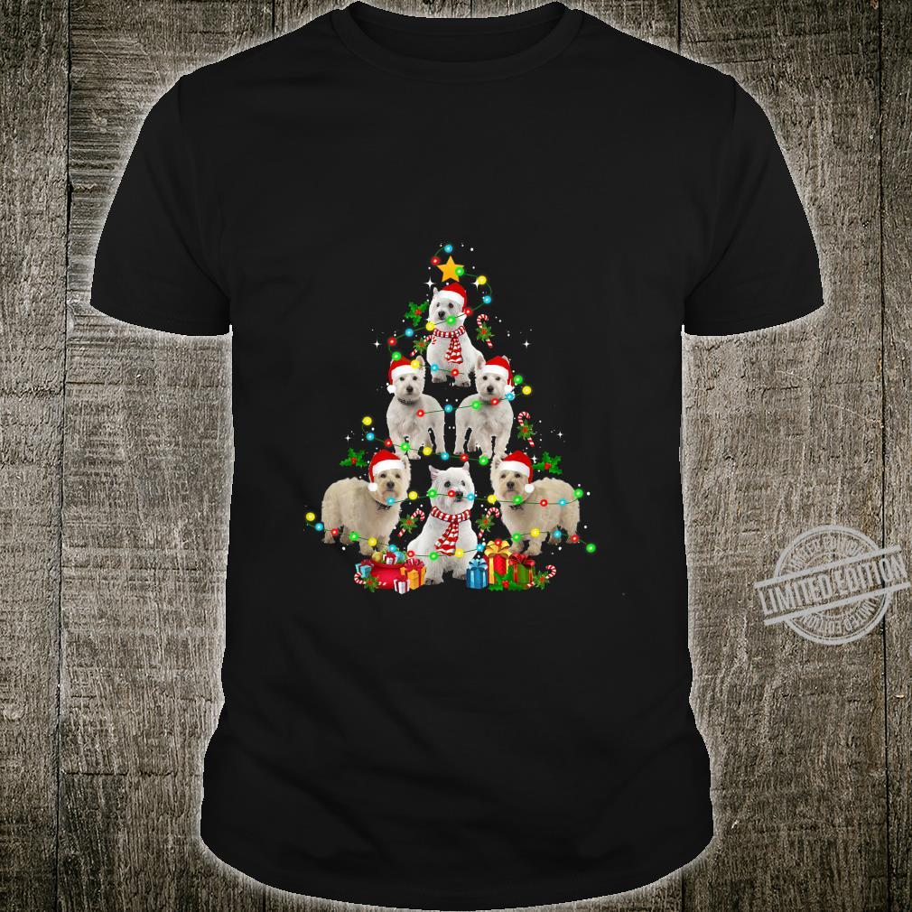 West Highland White Terrier Christmas Tree Dog Shirt
