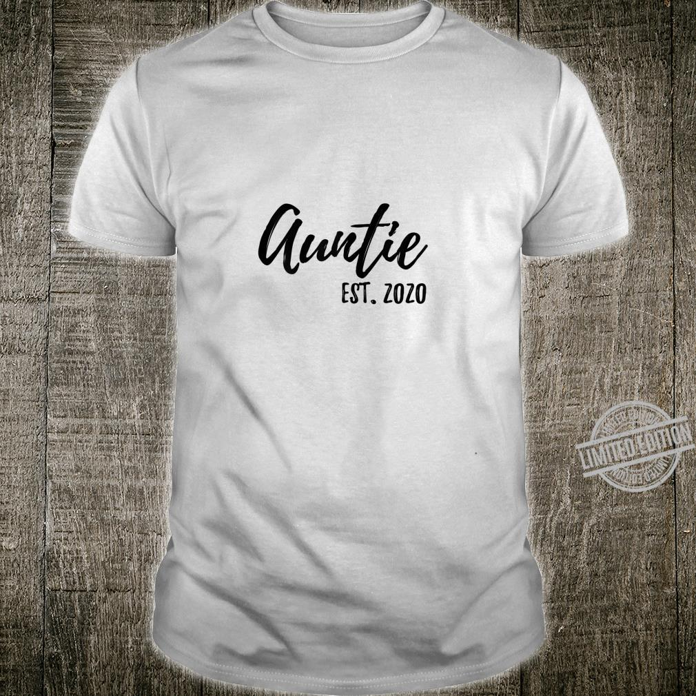Womens Auntie Est. 2020 Promoted To, First Time Aunt Shirt