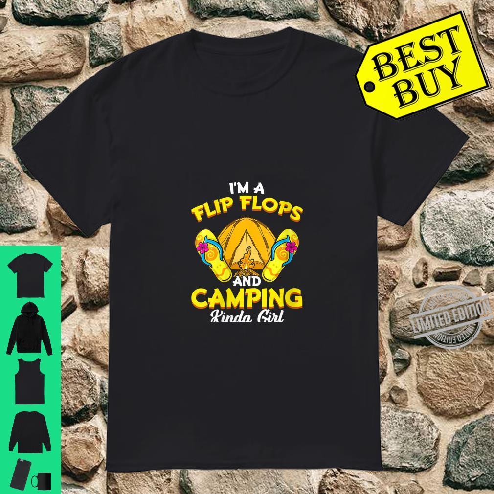 Womens Flip Flops And Camping Kinda Girl Camper Shirt