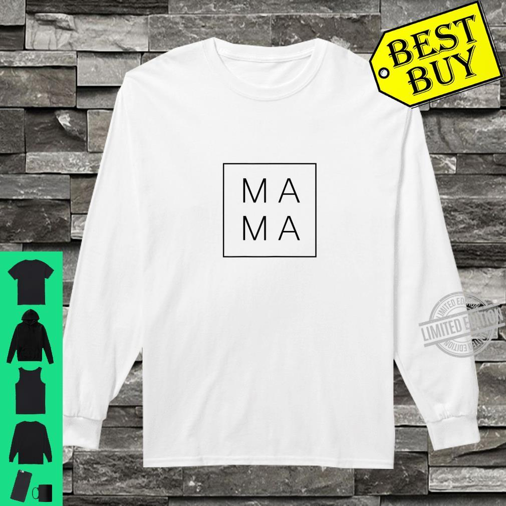 Womens Mother's Day 2020 For Mom Mama Square Shirt long sleeved
